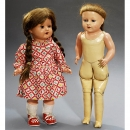 2 Dolls with Celluloid Heads    1930-1950年