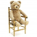 Teddy Bear on Doll's Chair     1950年前后