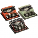 3台Underwood Portable颜色不一的打字机 (3 Colored 'Underwood Portable')