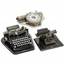 3台玩具打字机 (3 German Toy Typewriters)