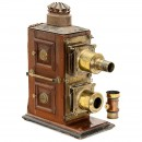English Biunial Magic Lantern for Restoration, c. 1890