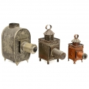 3 Magic Lanterns for Restoration, c. 1900