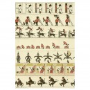 13 Zoetrope Strips, c. 1870