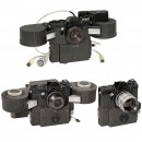 3 Special Stasi Cameras with Motor, c. 1980