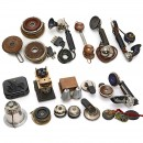 Group of Early Telephone Handsets and Accessories, c. 1910