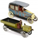 2 Penny Toy Cars, c. 1920