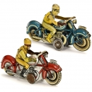 2 Fischer Penny Toy Motorcycles, c. 1930