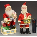 2 Battery-Operated Santas, c. 1960
