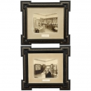 2 Framed Photographs of a Telephone Exchange Office, c. 1900