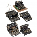 5 Typewriters
