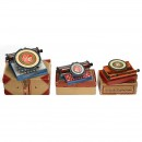 3 Simplex Tin Toy Typewriters