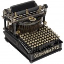 Germania No. 5 Typewriter, c. 1900