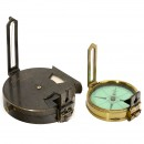 2 Military Prism Sighting Compasses, c. 1900