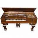 American Grand Piano with Organ, c. 1860