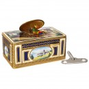 Enameled Singing Bird Box Automaton by Griesbaum