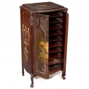 Disc-Storage Cabinet with Rockwood Decoration