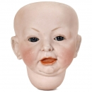 Large Bisque Character Doll Head by Kämmer & Reinhardt, from 190