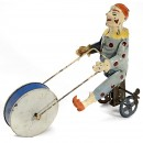 Günthermann Tin Toy Figure Clown on Tricycle, c. 1910