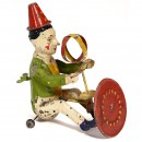 Günthermann Tin Toy Figure Turning Clown, c. 1910