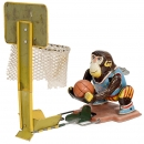 Monkey Basketball Player Tin Toy, 1950s