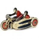SFA – Paris French Penny Toy Military Motorcycle, c. 1930