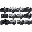 10 Olympus OM Cameras and Accessories
