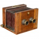 French Wet-Plate Stereo Camera, c. 1870