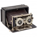 Stereo Camera with Folding-Bed Body (9 x 18), c. 1905
