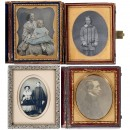 1 Daguerreotype and 3 Ambrotypes