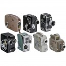 7 Movie Cameras 8 mm and 9,5 mm, 1935–1965