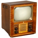 Early Philips Type TX-1410U TV-Set, 1952