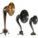 3 Horn-Type Radio Loudspeakers, c. 1925