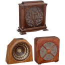 3 Large Wooden-Cased Loudspeakers, c. 1926