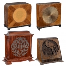 4 Wood-Cased Loudspeakers, c. 1928