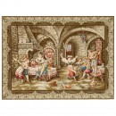 Tapestry Depicting Cavaliers at Play