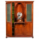Large Phonograph and Cylinder Cabinet, c. 1905