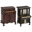 2 Musical Cigarette-Dispensers in the Form of Miniature Harmonia