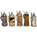 3 Musical Beer Steins, 20th Century