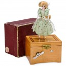 Musical Dancing Giselle Automaton in Original Box, c. 1920