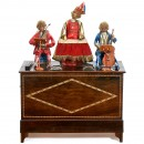 Rare 20-Key Barrel Organ with Three Monkey Automata by Théroude,