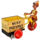 Marx Pinocchio Busy Delivery Tricycle, c. 1938