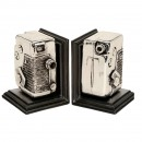 2 Bookends in Form of 8mm Movie Camera, c. 1980