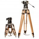 2 Tripods for 35 mm Movie Cameras, c. 1965