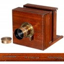 Early Sliding Box Daguerreotype Camera by Chadburn, c. 1851