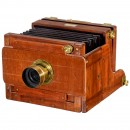 Stereo Camera by George Hare with Sliding Lens Board, c. 1864