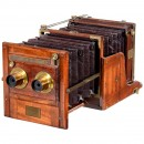 Mahogany Tailboard Stereo Camera by Meagher, c. 1860