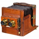 Tailboard Stereo Camera by Fallowfield, c. 1892