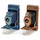 2 Hawk-Eye Rainbow No. 2A Cameras (Blue and Brown), 1931