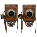 2 Wall Telephones by Mix & Genest, c. 1900