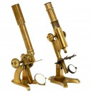 2 Brass Compound Microscopes, c. 1865